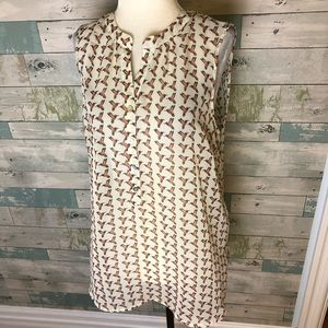 Daniel Rainn sheer blouse size L